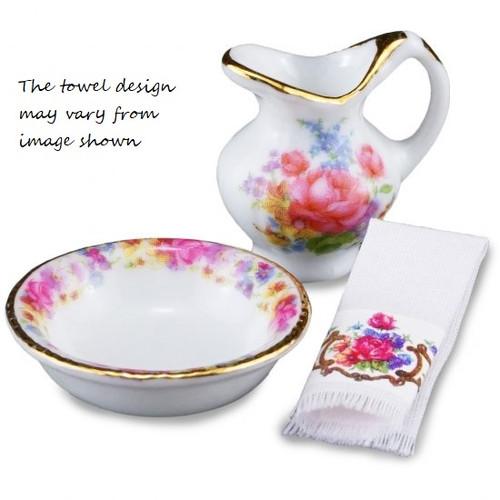Dresden Rose Wash Bowl Set (MC18775)
