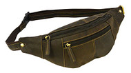 Visconti 721 Genuine Soft Leather Bumbag Fanny Pack Waist Pouch (Oil Brown)