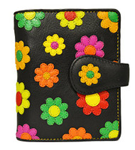 Visconti Sunshine DS-80 Womens Floral Multi Colored Bifold Wallet