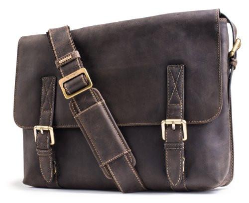 dc93409718b Visconti Wesley 16117 Large Distressed Leather Messenger Shoulder ...
