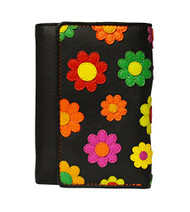 Visconti Paris DS-81 Womens Floral Multi Colored Trifold Wallet/ Purse