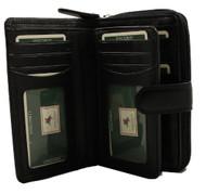 Visconti Heritage-33 Ladies Multi Card Holder Wallet and Purse (Black) [Apparel]