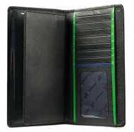 Visconti BD16 Black Leather Tall Checkbook Wallet w/ Removable Checkbook Hold...