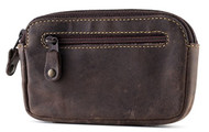 Visconti 723 Hunter Distressed Oil Brown Leather Coin Purse Wallet