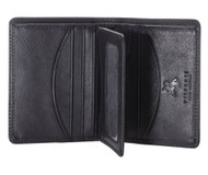 Visconti HT3 Mens Thin Soft Leather Small Bifold Wallet (Black) [Apparel]