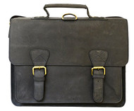 Visconti Hunter 16106B Distressed Leather Messenger Briefcase Backpack