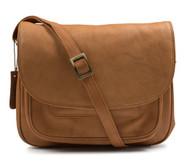 Visconti 2194 Tan Leather Woman's Shoulder Handbag / Messenger Bag / Crossbod...