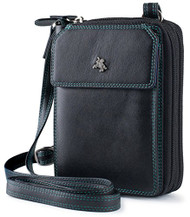 Visconti BRB15 Leather Purse with Shoulder Strap / Mini Bag / Card Holder Wal...