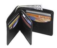 Visconti Heritage 17 Bifold Mens Soft Leather ID Card Case Wallet (Black)