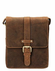 Visconti 16113 Modern Style Messenger Bag Made of Oiled Distressed Leather