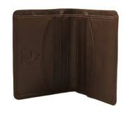 HT6 Mens Soft Thin Leather Business Card Wallet Gift Boxed= Parent
