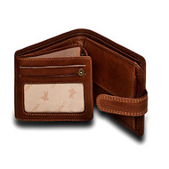 "Visconti Archimedes DRW30 Mens Trifold ID Leather Wallet (Oak Tan) 4.7"" x 3.75"""