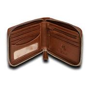 "Visconti Hawking DRW31 Zip Around Mens Bifold Leather Wallet (Oak Tan) 4.33"" ..."