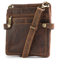 "Visconti 18511 ""Neo"" Distressed Leather Slim Cross-Body Messenger Bag"