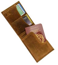 Visconti Hunter 726 Oiled Leather Travel Mens Wallet With Pen/Stylus (Oil Tan)