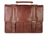 Visconti VT-6  two Buckel Soft Stylish Quality Leather Vintage Business Briefcase Case Holder