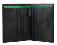 Visconti BD14- Mens Black with Multi Color Leather Compact Card Case Holder B...