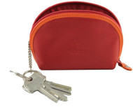 Visconti RB63 Womens Girls Soft Leather Small Coin Purse Key Chain Ring Wallet