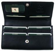 Visconti Heritage -35 Soft Leather Large Ladies Purse Wallet (Black) [Apparel]