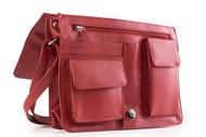 Visconti 754 Womens Medium Red Leather Flap-over Shoulder / Crossbody Bag / M...
