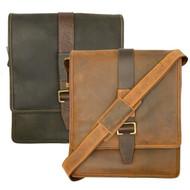 Visconti 16159 Zoltan Medium Messenger Bag in Oiled Leather (Oil Brown)