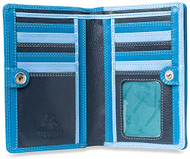 Visconti Penang RB109 Ladies Multi Colored Leather Organizer Card Holder Wall...