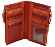 Visconti Bermuda RB100 Multi Color Womens Soft Leather Large Wallet / Purse /...