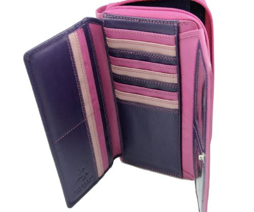 Quality Ladies Soft Leather PURSE Wallet by Visconti Designer Pink Purple GIFT