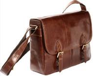 Visconti VT-4 Soft Leather Vintage Brown Tan Messenger Bag Laptop Case Briefcase