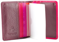 Visconti RB44 Cancum Multi-Color Soft Leather Wallet for Credit, Business, an...