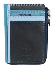 Visconti RB110 Phi Phi Womens Leather Slim ID Credit Card Holder Wallet / Pur...
