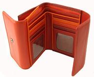 Visconti RB50 Multi Colored Red/Orange/Crimson Large Bifold Three Tone Cover Wallet