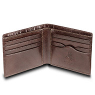 Visconti Monza 6 Mens Card Holder Leather Wallet in Italian Brown Gift Boxed