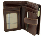 Visconti Monza -11 Ladies Large Italian Brown Soft Leather Purse/Wallet (Brown)