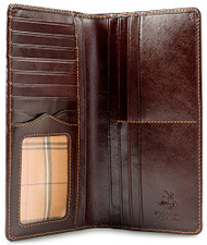 "Visconti Monza-Z Tall Bi-fold Wallet for Home, Business, or Travel 3.75"" x 7...."