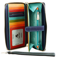 Visconti Spectrum SP40 Multi Colored Soft Leather Ladies Wallet Purse Clutch ...