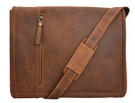 Visconti FOSTER 16073 X-Large Leather Laptop Computer Case Messenger Bag for ...