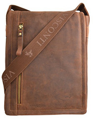Visconti 16081 Distressed Oiled Leather Messenger Cross-Body Shoulder Bag