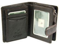 Visconti Heritage -31 Small Trifold Soft Light Leather Wallet & Purse (BLACK)