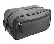 Visconti HT105 Leather Toiletry Travel Bag Dopp Kit