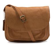 Visconti Joanna 2195 Large Tan Leather Womans Shoulder Handbag / Messenger Ba...