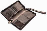 Visconti 728 Large Distressed Leather Travel Wallet for Passports, Tickets an...