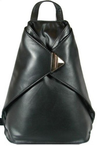 Visconti 18258 Soft Leather Triangular Women Backpack Handbag Shoulder Bag Purse