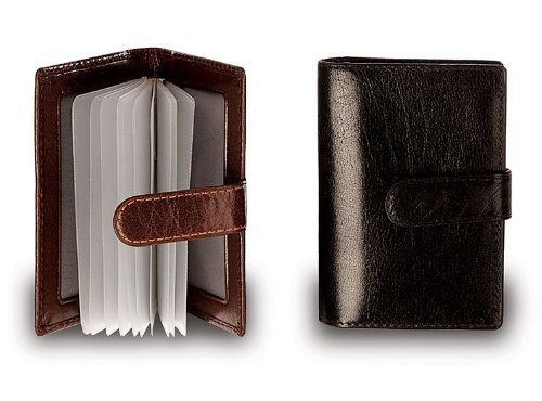 Visconti Men/'s Bifold Black Milano Genuine Leather Wallet