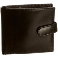 Visconti 454 Milano Mens ID Card Case Holder Leather Glossy Wallet in Black o...