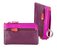 Visconti RB69 Multi Color Soft Leather Coin Purse Key Wallet With Key Chain (...