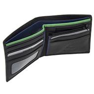 Visconti BD707 Le Chiffre Mens Bi-fold Leather Wallet (Black/Green)