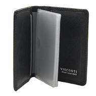Visconti Tuscany 40 Secure RFID Blocking Genuine Leather Wallet (Black)