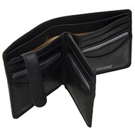Visconti Tuscany 43 Secure RFID Blocking Genuine Leather Wallet (Black)