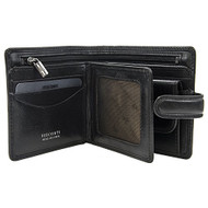 Visconti Tuscany 42 Secure RFID Blocking Genuine Leather Wallet (Black)